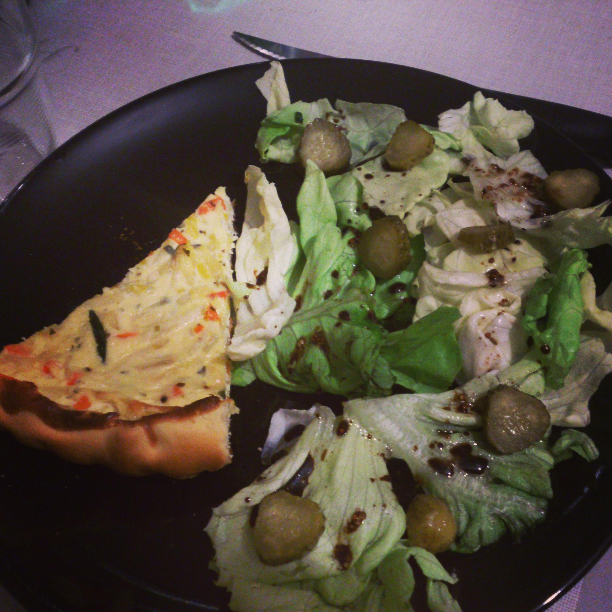 Tarte aux petits légumes et au Boursin.