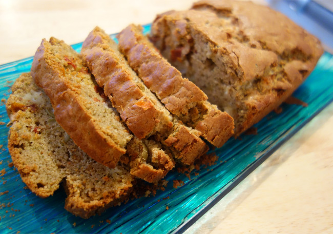 Cake gourmand aux saveurs du sud (sans gluten)