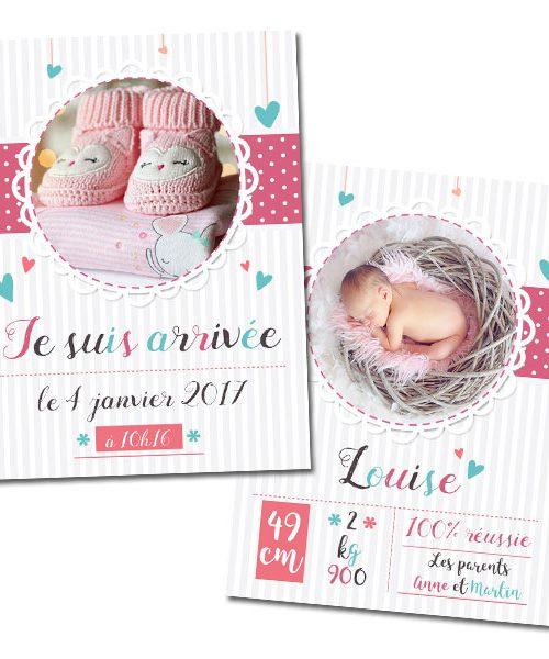 Carte de naissance Fille