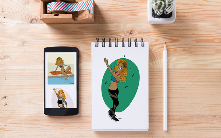 Illustrations web print