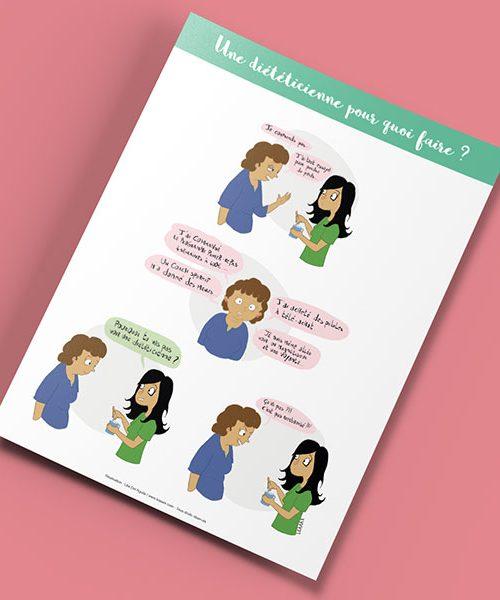 Affiche «Une diététicienne pour quoi faire ?»
