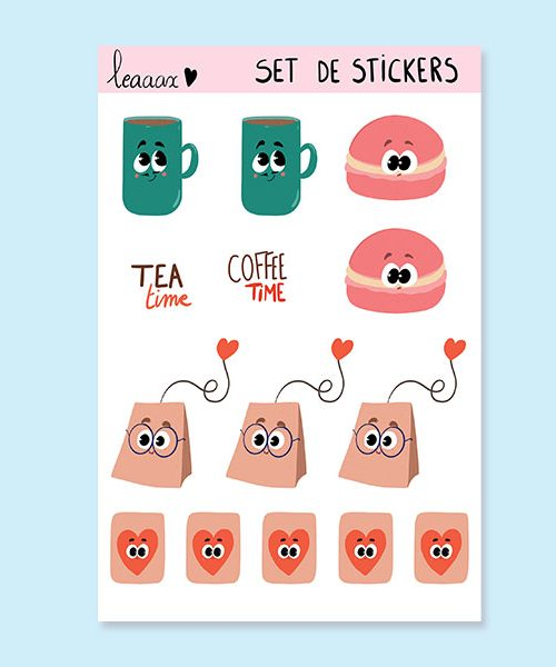 Planche de stickers « Tea Time »