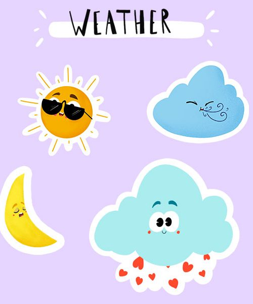 Stickers Weather en Vinyle Mat