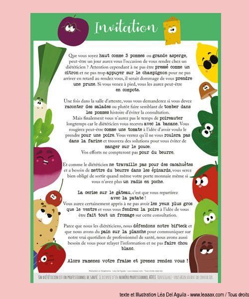 Affiche «Invitation»