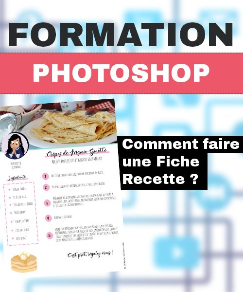 Formation Photoshop Fiche Recette REPLAY