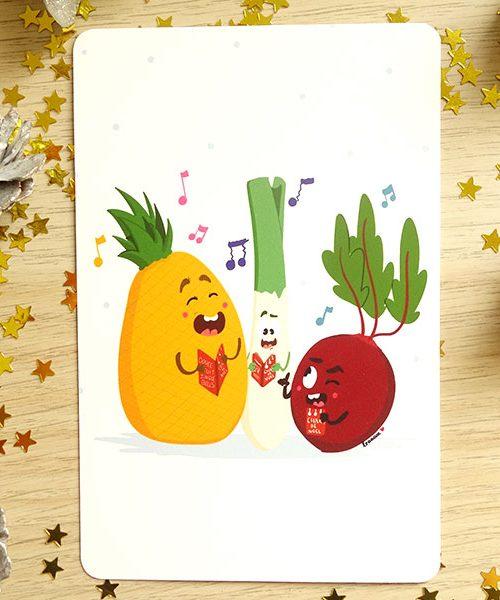 Carte Postale Chant de Noël