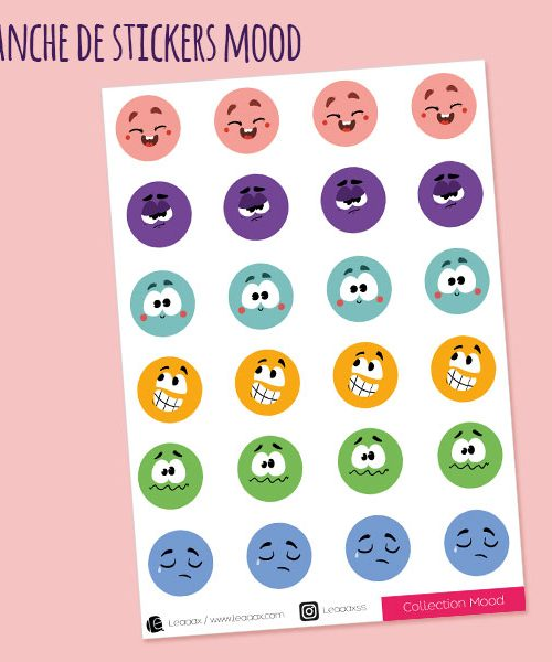 Planche de stickers Mood tracker