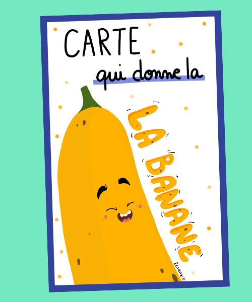 Carte Expression Banane
