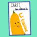 Carte expression banane