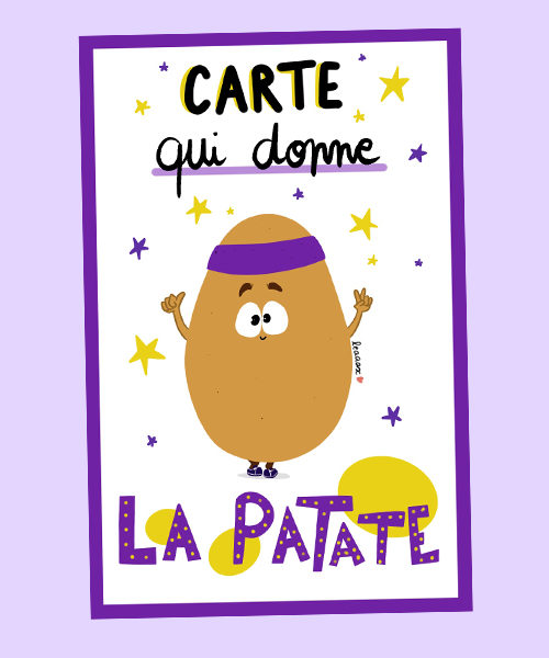Carte Expression Patate