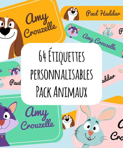 Étiquettes personnalisables / Pack Animaux