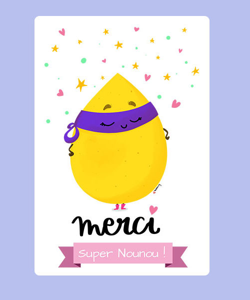 Carte Merci super Nounou !