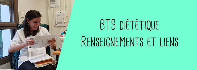 BTS diététique : renseignements et liens utiles