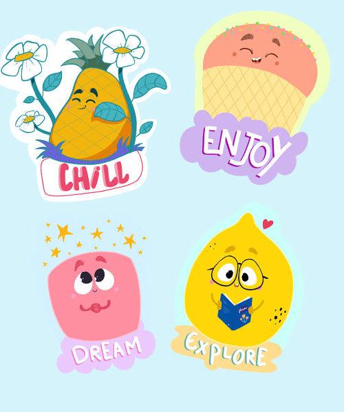 Stickers mood of joy