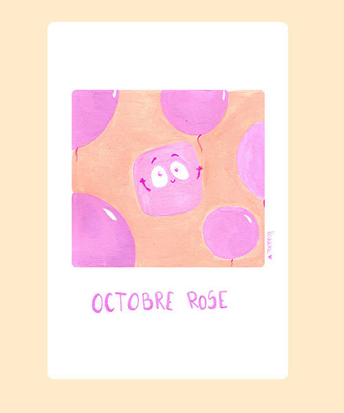 Inktober 02  Octobre Rose