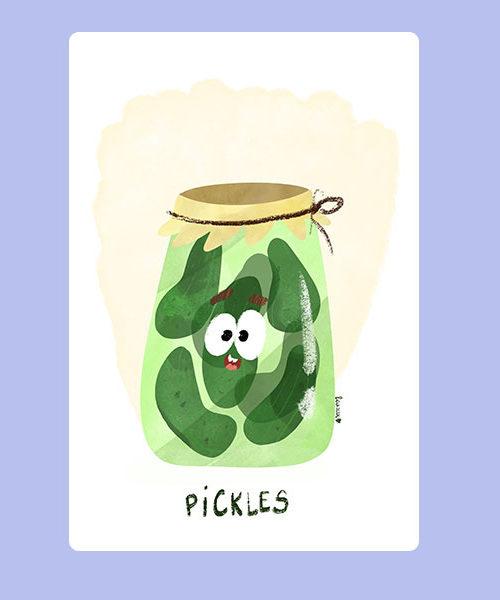 Inktober 12 Pickles