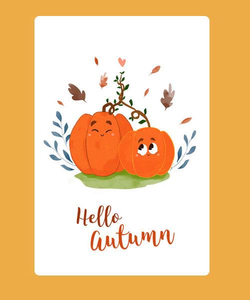Inktober 04 Carte Hello Autumn